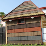 Bonne résistance sismique, pierre colorée avec du métal recouvert de tuiles du toit