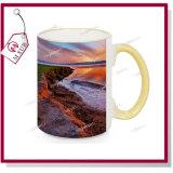 tazze di ceramica bianche 15oz con colore dell'orlo e della maniglia da Mejorsub