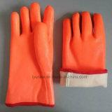 Люминесцентный пена изолированные гильзы гладкая отделка ПВХ зимние перчатки