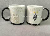 Couleur blanche, club de football Sandblast Mug Mug, sablé Mugs