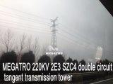 Megatro 220kv 2e3 Szc4二重回路のタンジェント伝達タワー