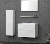Weißer Farbe Belüftung-Badezimmer-Schrank (BC-062)