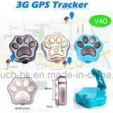 3G/WCDMA Waterproof Mini portátil Pet Tracker GPS con GEO-Fence V40