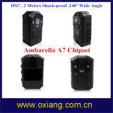 IP65 Versleten Camera van de Visie van de Nacht van IRL van de Taal van de Camera van de Politie 1080P de Multifunctionele Lichaam