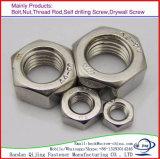 En zinc plaqué l'écrou à tête hexagonale en acier au carbone DIN934 DIN985
