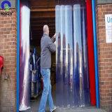 저온은 에너지 PVC 지구 문 커튼 장 PVC 커튼을 저장한다
