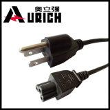 Enchufe fundido 110 voltios, nosotros ordenador 16AWG, cable de la resistencia térmica de 105 grados, IEC C5 del cable eléctrico