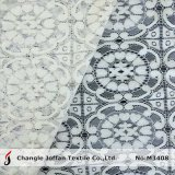 Tissu lourd de lacet de grand coton de fleur (M3408)