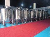 Calentamiento de la Chaqueta depósito mezclador de acero inoxidable con 4 ruedas