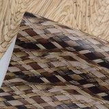 등나무 지팡이 바구니 짜임새에 의하여 인쇄되는 좌절하는 인공적인 PVC 부대 가죽