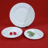 中国の製造の簡単なカラー陶磁器の食事用食器セットテーブルウェア