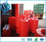 Reflektierende rote weiße Plastiksicherheits-warnende Trommel