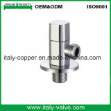 Europäische Qualität chromiertes Messingwinkel-Kugelventil (AV3067)