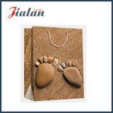 Sacs en pierre Pied-Shaped promotionnels de cadeau de transporteur d'achats de papier enduit