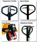 3 Ton duradero precio barato de la carretilla elevadora de la PU de la rueda manual del carro de plataforma