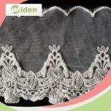 Dyeable Kleid-Zubehör-Blumenmuster-Netz-Stickerei-Zutat-Spitze