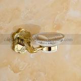 De muur zette de Gouden Toebehoren van de Badkamers op