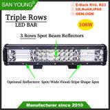 3 lignes de lumière LED Bar Bar lumineux à LED 108W faisceau Combo