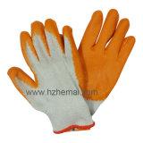 Luvas de revestimento de palma de látex liso Luva de trabalho de proteção de trabalho Proteção