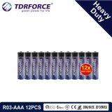 China 1,5V Fabrico Bateria Pesado para o detetor de fumaça (R03-AAA 12PCS)
