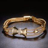 De westelijke Armband van de Kleur van de Verkoop van de Stijl Hete Gele Gouden voor Meisjes