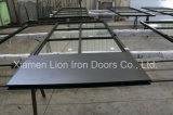 Porta de aço interior do ferro do celeiro da porta deslizante para o quarto com vidro Tempered