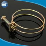 Vis à vis réglable sur le fil double collier du tube du tuyau de collier de flexible