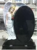 Pietra tombale nera pura del granito dei Headstones neri europei del granito del Headstone della Russia