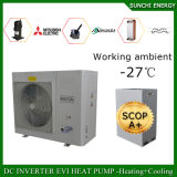 -25cの冷たい冬のラジエーターの熱House19kwの高い警察官で動作するSunchi Eviの空気ソースヒートポンプはヒートポンプの暖房はであるもの告げる
