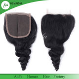 束の取り引きのための1つの閉鎖のバージンの人間の毛髪を搭載する3束