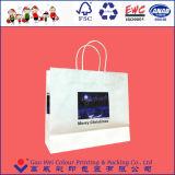 Qualidade superior reciclado de luxo saco de papel Kraft de varejo