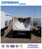 건조한 2 차축 덤프 트레일러 15cbm 팁 주는 사람 트럭 트레일러를 반 기울이기