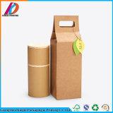 茶またはドライフルーツのためのクラフト紙袋が付いているカスタム食品包装の管