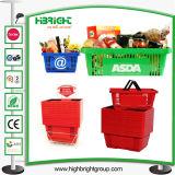 Supermarkt-Korb mit einzelnen Griffen