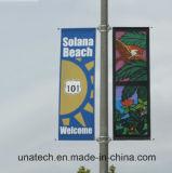 Alberino della via del metallo che fa pubblicità al fissatore del morsetto della bandiera di promozione (BS05)