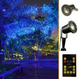 Projecteurs imperméables à l'eau extérieurs de Noël de laser de lumières, lumière de lanterne de laser de serre chaude de jardin
