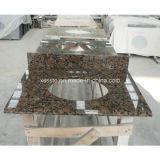 De natuurlijke Bovenkant van de Ijdelheid van het Graniet van de Badkamers van de Steen Marmeren