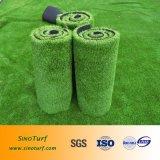 Grama artificial residencial da jarda dianteira, relvado sintético de Amusment do fio da fronda, gramado artificial da grama da falsificação da jarda dianteira