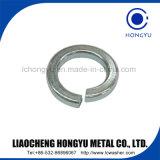 Arandela de bloqueo de resorte del cinc de la alta calidad/arandela elástica del acero de carbón