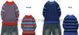 Karen Striped-Sleeve Diamond nervure Crew Neck en bonneterie Vêtements d'enfants