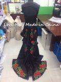 Размер двухкусочной черноты третий цветет длиннее платье вечера способа