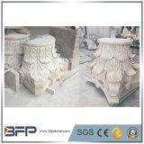 磨かれたローマの大理石の柱の柱ヘッドコラムベース