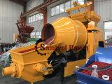 De volledige Diesel Concrete Mixer van de Macht met Concrete het Mengen zich van de Pomp Pomp op Verkoop met de Motor Lovol 1004 van het Merk van de Wereld