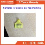 pequeña máquina de grabado de la marca del laser de 20W 30W para Eartags animal