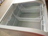 Handelsinsel-Gefriermaschine-Meerestier-Bildschirmanzeige-Gefriermaschine für Supermarkt
