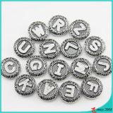 Lettre d'arrivée de nouveaux boutons Snap pour bracelet en cuir Bijoux