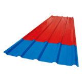 Venta caliente ondulado de color de la hoja de impermeabilización de cubiertas de acero prebarnizado