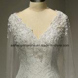 Longues robes nuptiales Backless sexy de robe de mariage de chemise avec le lacet