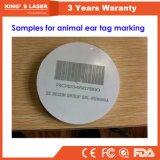 기계 휴대용 레이저 프린터 20W 30W 50W를 인쇄하는 동물성 귀 꼬리표