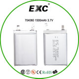 OEM 3.7V 1500mAh李Polymer Rechargeable Battery 704060